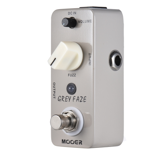 MOOER GREY FAZE Fuzz Guitar Effect Pedal True Bypass Full Metal Shell