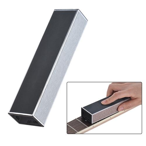 Gitarre Hals Schleifen Fret Leveller Nivellierung Strahl Luthier Werkzeug Metall Material mit Schleifpapier