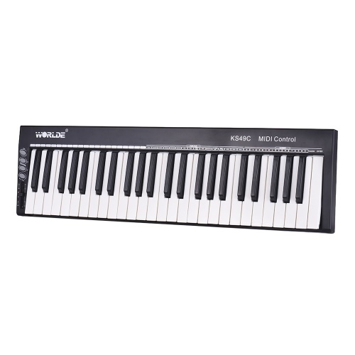 WORLDE KS49C 49-Key USB MIDI Keyboard Controller with 6.35mm Pedal Jack MIDI Out