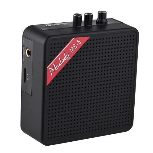 Muslady MS-5ポータブルミニギターアンプアンプスピーカー
