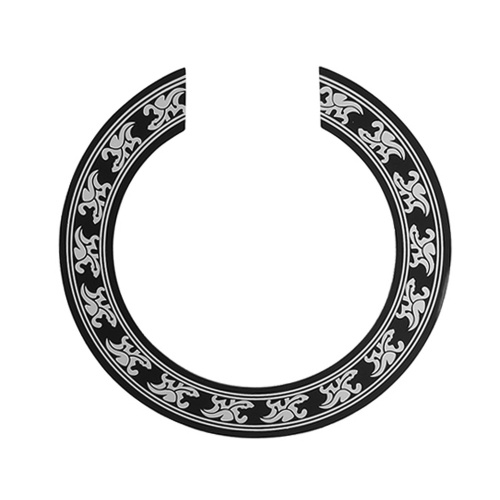 Folk Guitar Rosette Inlay Sticker Circle Sound Hole Decorative Decal Accessory Replacement for 40-41 Inch Guitars