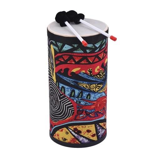 8-Zoll-Conga-Konga-Trommel-Handtrommel-Boden-Trommel-attraktive Gewebe-Kunst-Oberfläche mit Schultergurt-Stoß-Instrument für das Sammeln von Straßen-Leistungs-Rhythmus-Praxis