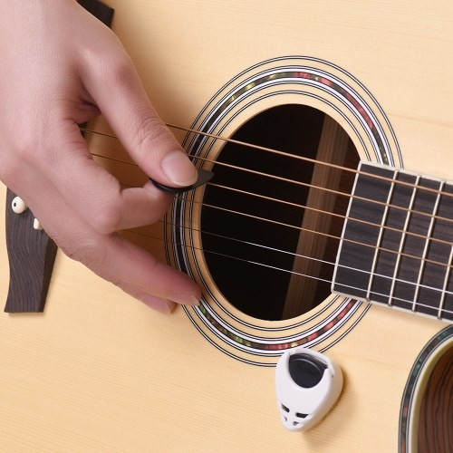 Guitar Accessories Kit Includes 15pcs Silicone Guitar Finger Protectors + 10pcs Guitar Picks for Acoustic Guitar Beginners