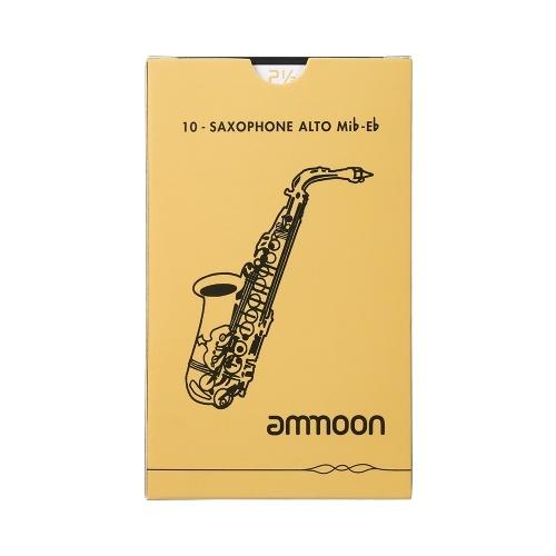 ammoon Alto Saxophone Sax Traditional Reeds Strength 2.5, 10pcs/ Box