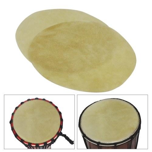 29cm/ 11.4in Drum Head Durable Buffalo Skin Round Drum