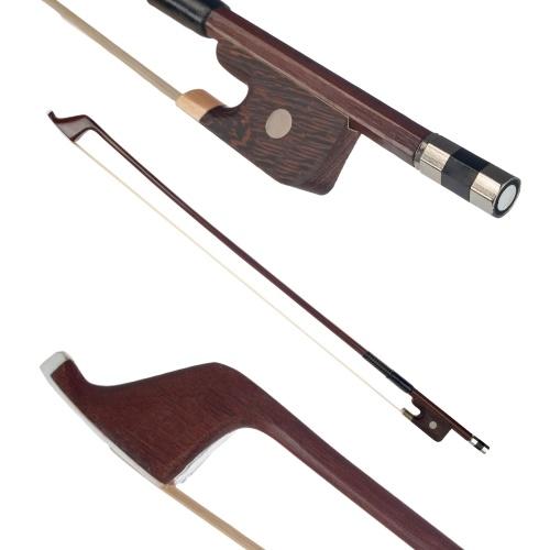 サイズ4/4ダブルベースブラジルウッドの弓馬毛の弓の毛の偉大なバランスポイントオーケストラ弦アクセサリーのためのドイツ風の弓