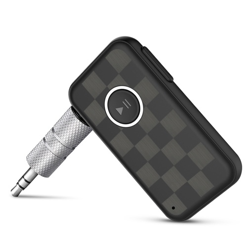 Adaptateur de récepteur audio sans fil Mini musique BT 5.0 pour appels mains libres de voiture Meilleure musique à l'écoute Sortie stéréo 3.5mm pour système audio de voiture haut-parleurs Casques d'écoute