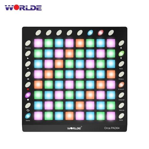 WORLDE ORCA PAD64 Controller MIDI Drum Pad USB portatile