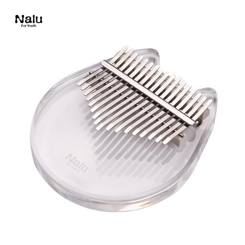 Nalu NK-CT Transparentes Kalimba-Flügel mit 17 Tasten