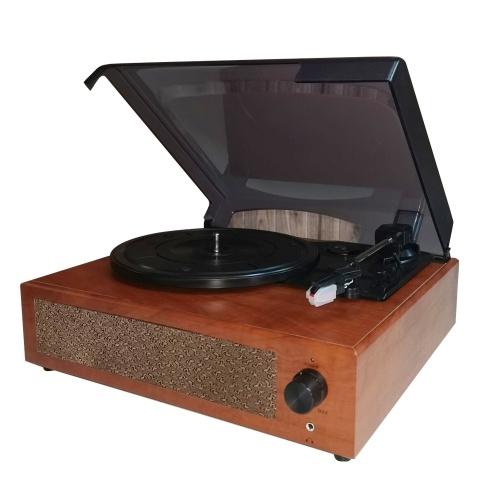 Platine vinyle Gramophone portable Platine vinyle classique Vintage phonographe avec haut-parleurs stéréo intégrés