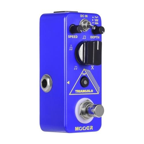 Цифровая педаль тремоло Mooer Triangolo Педаль эффектов для электрогитары Компактная педаль True Bypass Micro Series