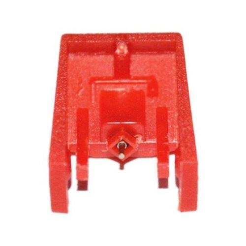 Tocadiscos Aguja Zafiro Punta de aguja de cerámica con punta de aguja Reemplazo de punta para tocadiscos Tocadiscos Compatible con reproductores de discos Crosley Fisher ION OTTO Rojo Paquete de 1