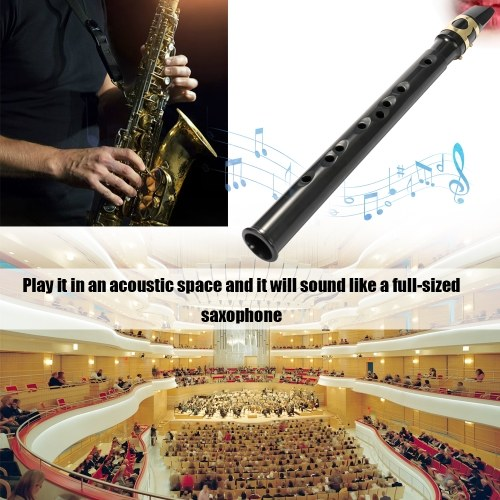(Straight mouth)Pocket Sax Mini Portable Saxophone Little Saxophone With Carrying Bag Woodwind Instrument