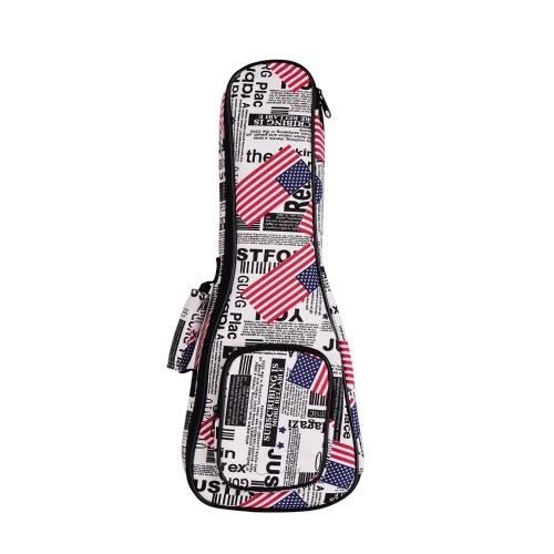21 pouces Soprano Ukulele Bag Ukelele Uke Backpack Case 8mm Padding
