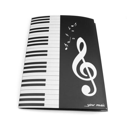 Черный Ноты Папка А4 Размер Хранения Держатель Binder для Сценического Музыкального Инструмента Пианино