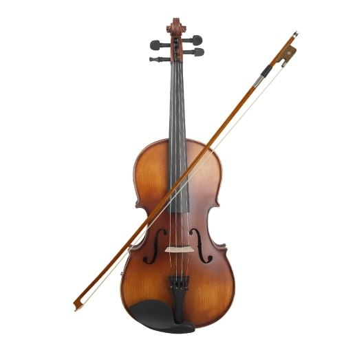 16inch Electric Viola EQ Spruce Wood with Bow Cleaning Cloth Carry Box for Adults Children Beginner
