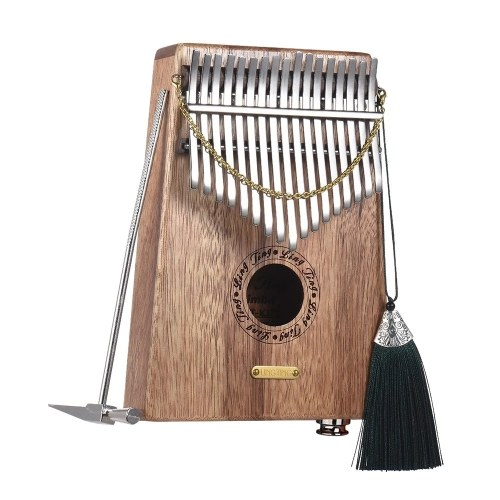 LINGTING K17SEQ 17-key Portable Thumb Piano Kalimba Mbira Swartizia Spp Solid Wood Built-in Pickup