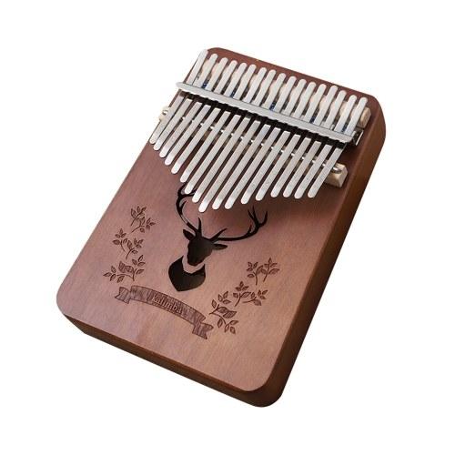 Лесной Олень 17 Ключей Калимба Африканский Палец Палец Фортепиано Вуд Калимба Портативный Музыкальный Инструмент фото