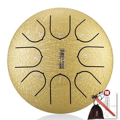 6-дюймовый металлический барабанный язычок мини-8-тональный барабан для рук