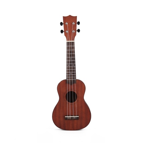 21 inch Kids Wooden UKulele 4 String Portable Guitar Instrument Mahogany NO.UK121-1