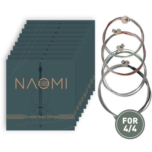 NAOMI Double Bass ContraBass Strings Pièces de rechange Jeu de cordes en acier