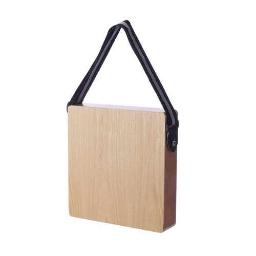 Cajon Boxdrum Travel Drum Accompaniment Music Boxdrum Percussion Instrument Solid Wood Portable with Strap