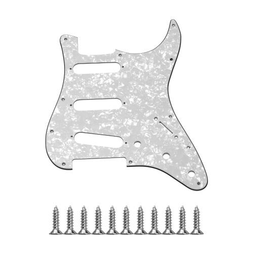 Standard 11-Loch-Gitarren-Schlagbrett 3-lagiges Schlagbrett mit Schrauben für ST-Gitarre