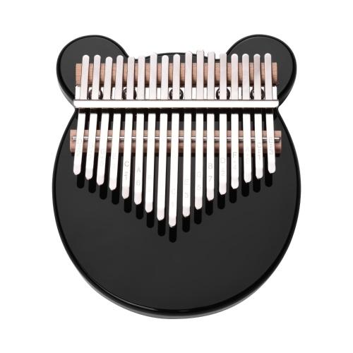 Muslady 17-Key Thumb Piano Black Acrylic Kalimba Mbira Musical Instrument