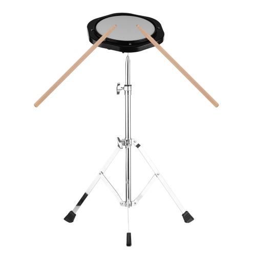 8-дюймовый немой бесшумный барабан Ударный инструмент 8 мм Винтовой разъем 79-120 см Регулируемая высота
