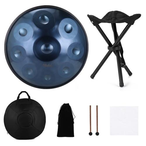 MUSLADY Performance Sound Healing Handpan Musikinstrument Geschenk mit Schlagzeugbeutel