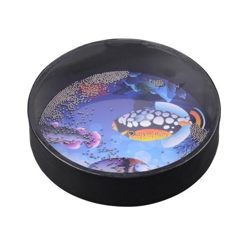 12 Zoll Ocean Drum Holz Hand Sea Wave Drum Percussion Instrument Sanftes Sea Sound Musikspielzeug Geschenk für Kinder