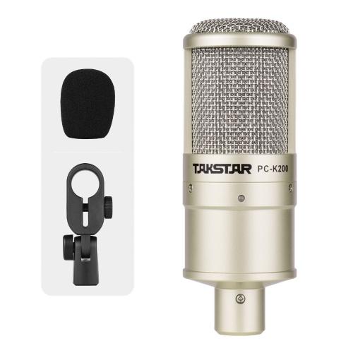 TAKSTAR PC-K200 Kondensator-Aufnahmemikrofon mit Nierencharakteristik