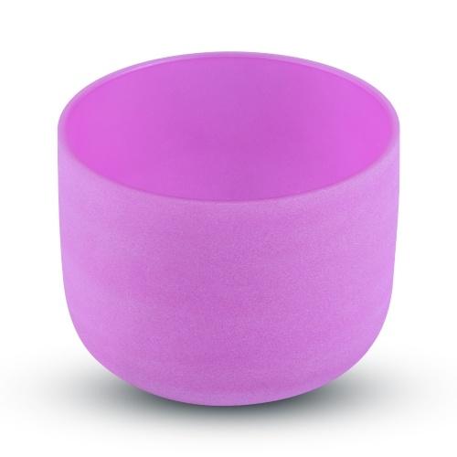 ammoon 8-дюймовая хрустальная поющая чаша B Note с резиновым кольцом для хранения молотка