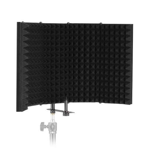 ammoon K50 Microphone Isolation Shield Compact Foldable Tabletop Isolation Shield