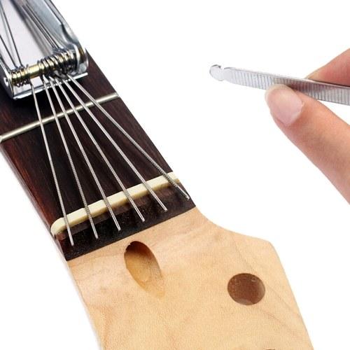 Guitar Repairing Tools Set Stringed Instrument Fretboard Maintenance Tools Repairing Tools Bag for Guitar Ukulele