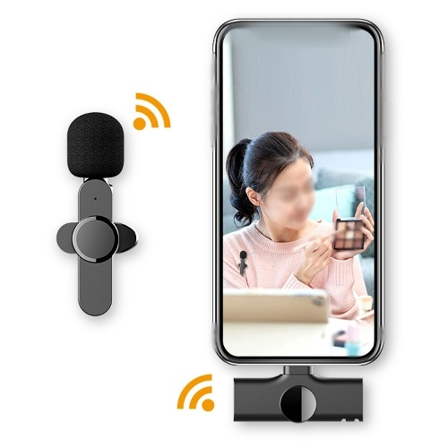 Wireless Mini Portable Lavalier Condenser Microphone Clip-on Tie-clip Mic Audio Video Recording Microphone for Mobilephone
