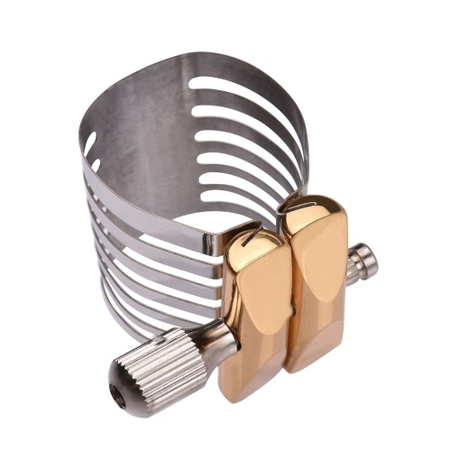 Muslady Single Screw Adjustment Saxophonligatur Kompakte, langlebige Saxophonligatur für Tenorsaxophon
