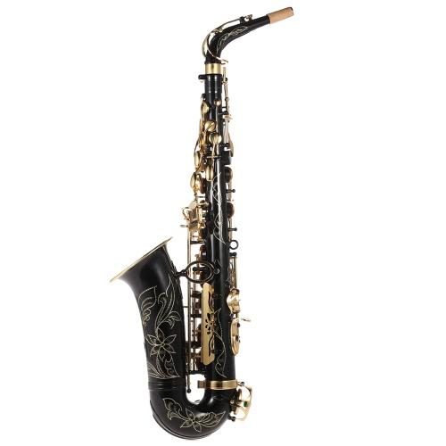 ammoon するアルト アルトサクソ フォン真鍮漆塗り金 E フラット サックス 82Z キー型木管楽器洗浄ブラシ布手袋コルク グリース トラップ パッド入りケースと