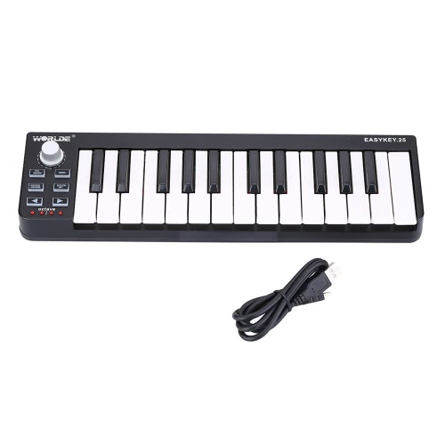 Worlde Easykey.25 Portable Keyboard Mini 25-Key USB MIDI Controller