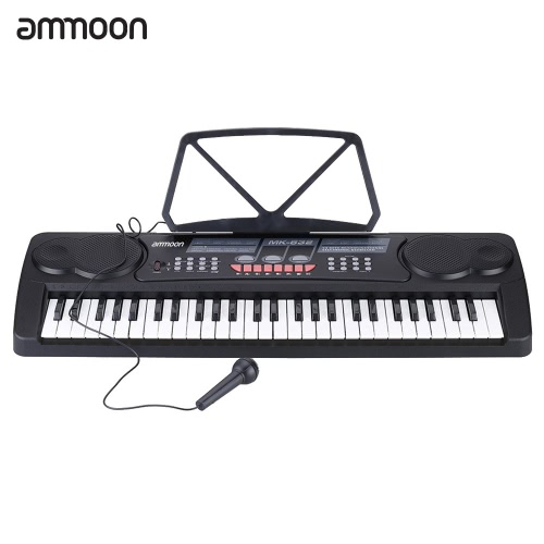 54 Keys Multifunctional Digital Electronic Music Keyboard Electric Piano Organ with Sheet Music Holder Microphone Gift for Children Beginners Music Lovers