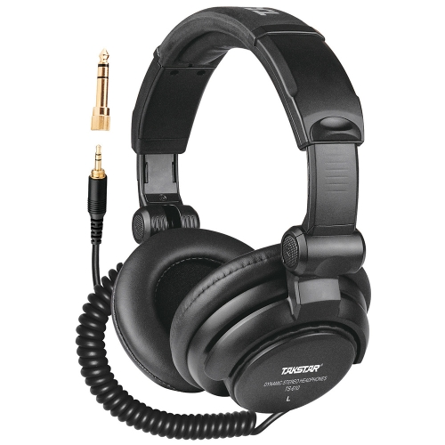 Takstar TS-610 Foldable Wired Stereo Dynamic Monitor Headphone Headset for Guitar PC Computer CD Player Walkman MP3 MP4