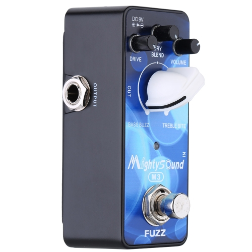 Mighty Sound M3 Mini Classic Buzz Fuzz Electric Guitar Effect Pedal True Bypas