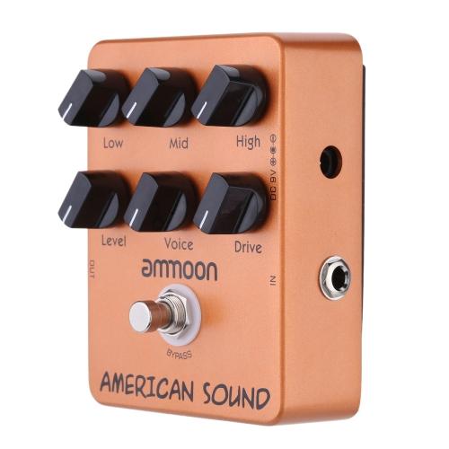 Ammoon AP-13 Amerykański Amplituner Dźwięku Pedał Gitary Akustycznej True Bypass