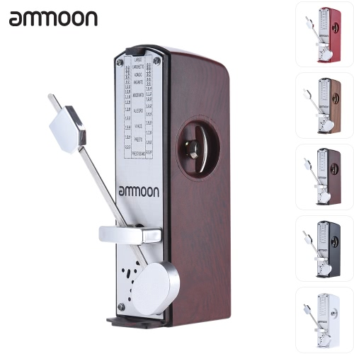 Tragbare Mini-mechanisches Metronom Universal-Metronom 11cm Höhe für Klavier Gitarre Violine Ukulele chinesischen Zither-Musik-Instrument ammoon