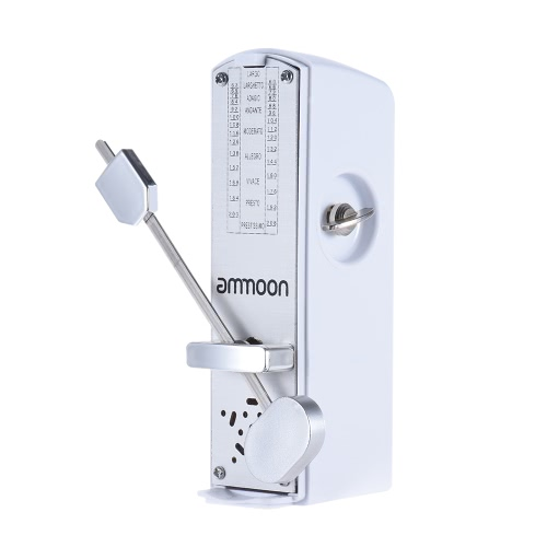 ammoon Portable Mini Mechanical Metronome Universal Metronome 11cm Height for Piano Guitar Violin Ukulele Chinese Zither Music Instrument
