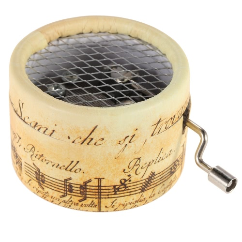 Exquisite Musical Box Hand Crank Music Box 4 Patterns for Option