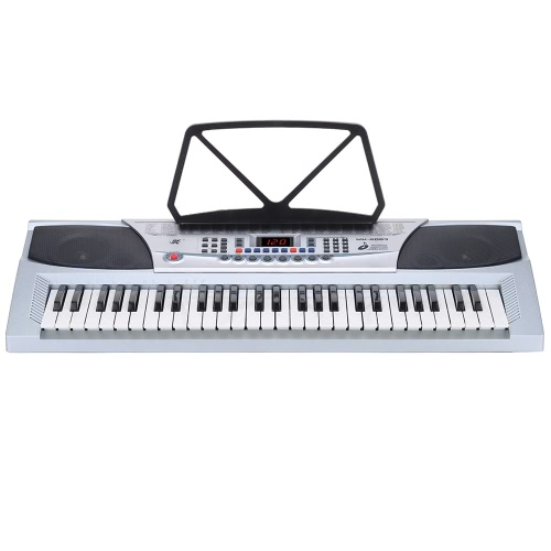 54 Keys Multifunctional Teaching-Type Electronic Keyboard LED Display Electronic Piano Organ with Music Stand & Microphone