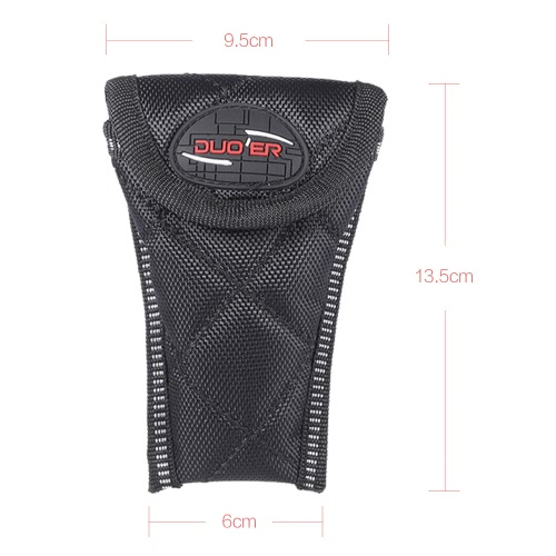 Durable Soft Sax Saxophone Mouthpiece Pouch Bag Black