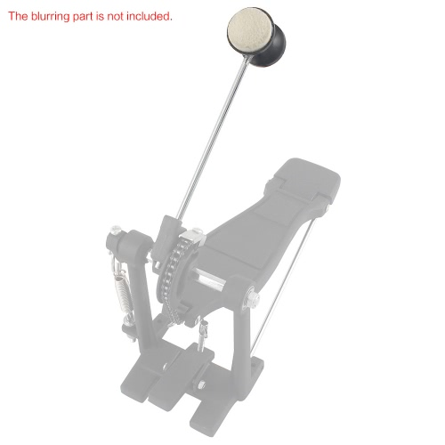 Tomtop coupon: Drum Pedal Wool Felt Stainless Steel Handle 1pcs Instrument Accessory Part High Quality