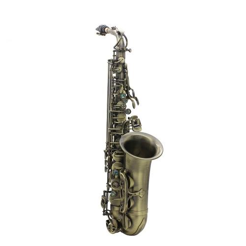 Antique Finish Bend Es-Dur Altsaxophon Sax